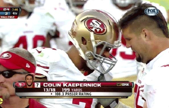 boone headbutt kaepernick 49ers