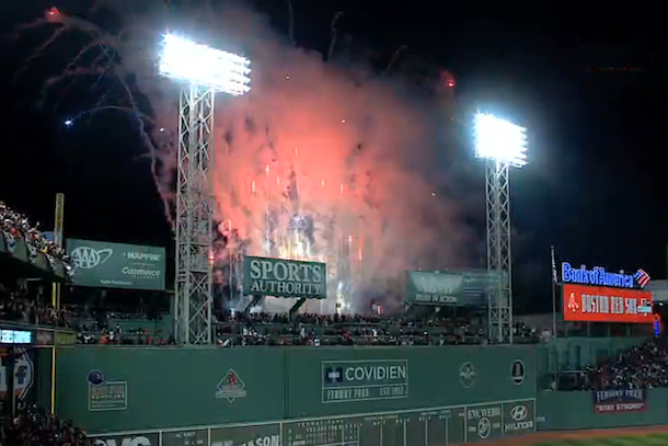 boston red sox win world series at fenway park