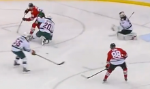 Brandon Saad Dishes Sweet Spin-O-Rama Pass to Patrick Kane for Highlight Reel Goal (Video)