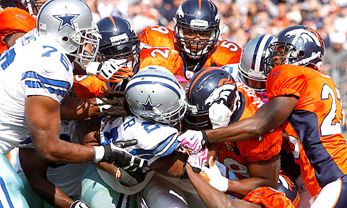 broncos tackle the cowboys 2