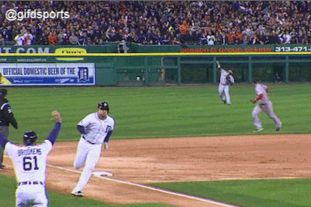 cabrera runs through stop sign