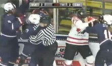 Line Brawl Breaks Out During USA Vs Canada Women's Hockey Game (Video)