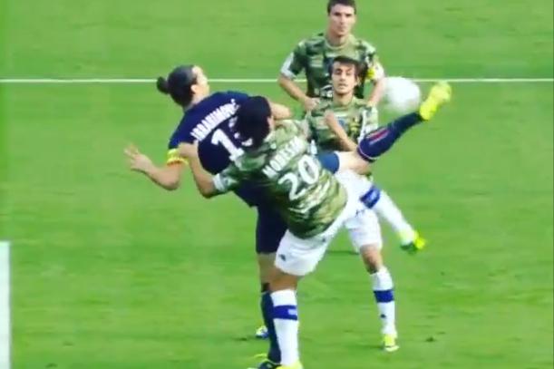 crazy zlatan ibrahimovic goal
