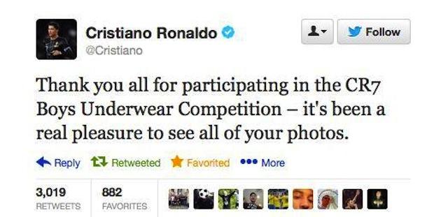 cristiano ronaldo likes boys in underwear