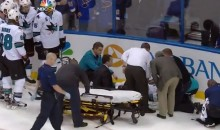 Dan Boyle Stretchered Off the Ice After a Hit-From-Behind by Maxim Lapierre (Videos)