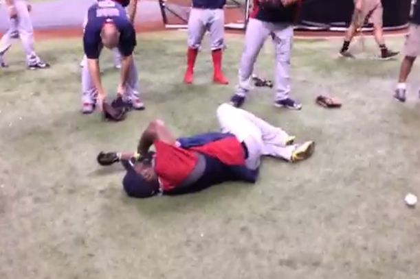 david ortiz baseball to the groin (nutshot)