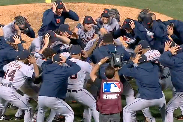 detroit tigers haka dance