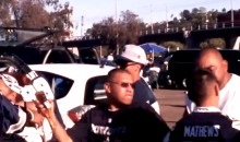 Scumbag Cowboys Fans Hit Unsuspecting Chargers Fans on the Side of the Head with Beer Bottles (Video)