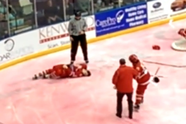 hockey player dylan chanter has seizure after fight