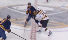 Sabres Goon John Scott Levels Loui Eriksson with Elbow to the Head (Video)