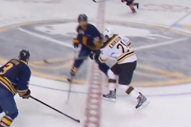 john scott elbow headshot on loui eriksson