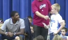 "Cute Kid to Kyrie Irving: ""Are You Going to Leave Like LeBron?"" (Video)"