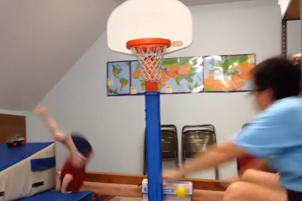 kid dunk fail