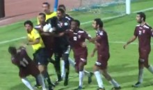 Kuwaiti Soccer Referee Slaps and Kicks Players Who Get Up in His Grill (Video)