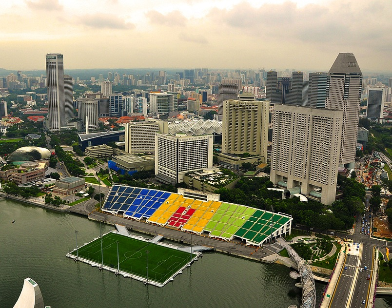 marina bay stadium singapore - weird sports venues