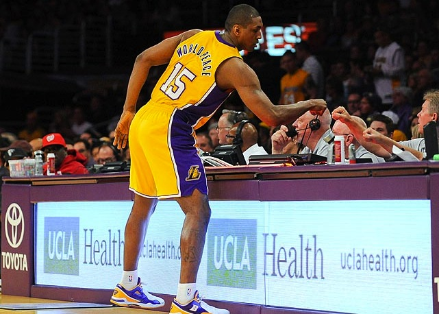 metta world peace - athletes who changed their names