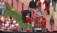 Nebraska Player Caught Peeing On Sideline During Game (Video)