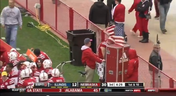 Nebraska Player Caught Peeing On Sideline