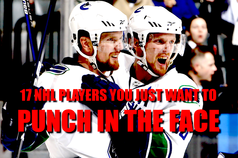 nhl players you want to punch in the face (annoying agitators, divers, dirty players)