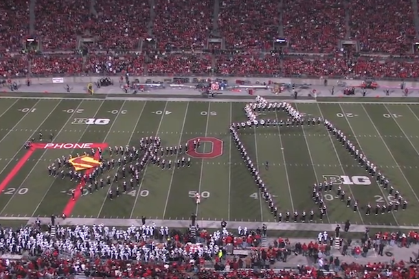 ohio state marching band tribute to hollywood