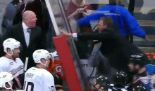 Patrick Roy Went Incredible Hulk on Bruce Boudreau After His NHL Coaching Debut Last Night (Video)