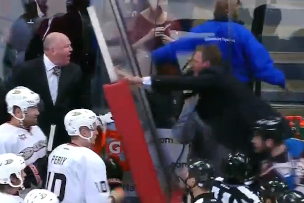 patrick roy goes ballistic on bruce boudreau