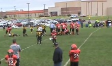 Pee Wee Football Player Kicks Opponent in the Head (Video)