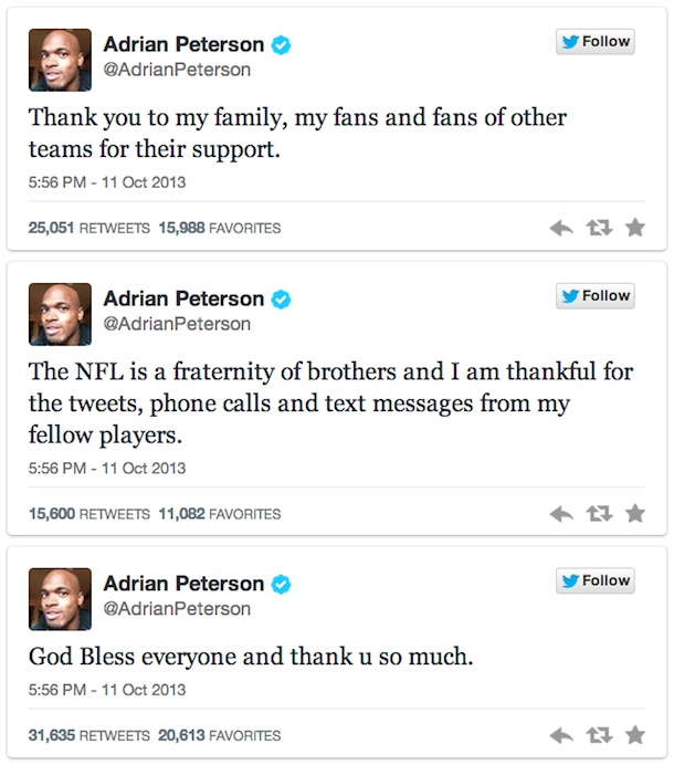 peterson tweets