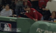 Red Sox Fan Looking for Souvenir Takes Foul Ball to the Teeth Instead (GIF)