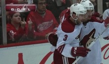 Young Red Wings Fan Tells Coyotes What to Do with Themselves (GIF)
