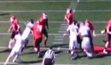 Saint Francis O-Lineman Delivers Punch to the Back of Opponent's Head (GIF)