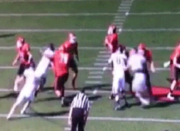 saint francis red flash o-lineman punch