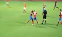 Lithuanian Soccer Teammates Fight Each Other During Game (Video)