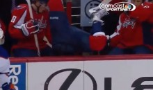 Mike Green Misses Check, Goes Up and Over the Boards For a Line Change (Video)