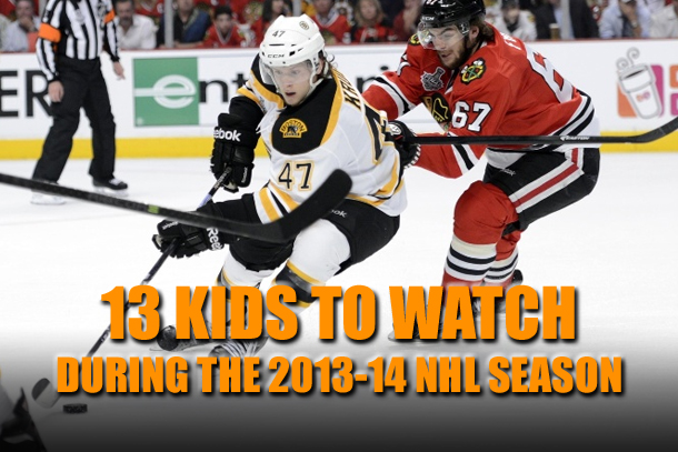 young players kids rookies to watch 2013-14 NHL season