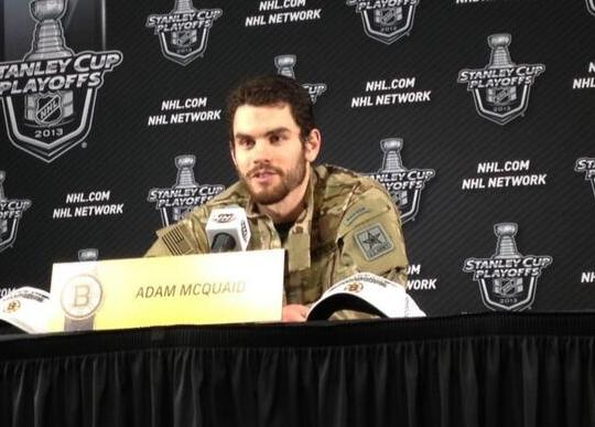 12 bruins army ranger jacket 2013 (Adam McQuaid)