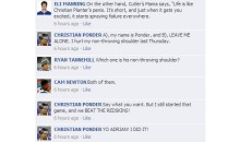 NFL Quarterbacks Conversation on Facebook: Week 10 Round-up