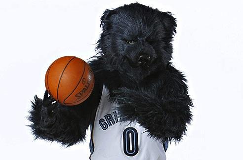 5 grizz (memphis grizzlies mascot) - creepy nba mascots