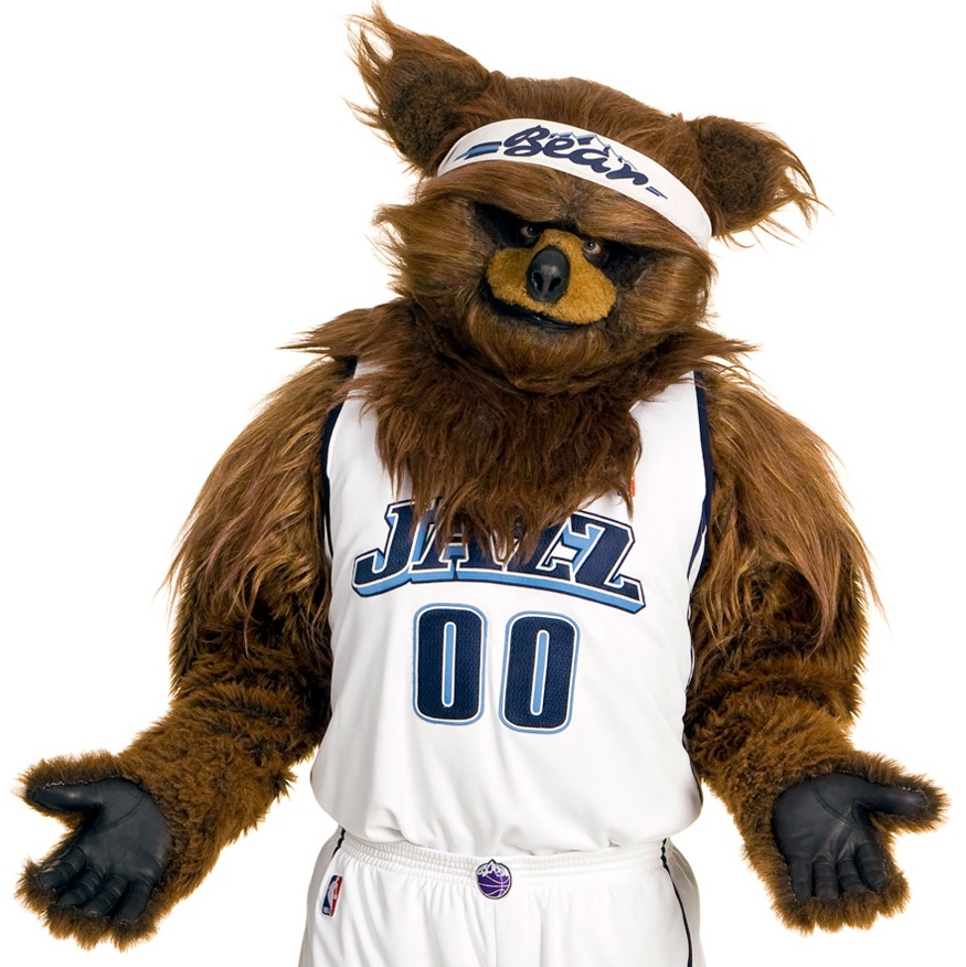 7 jazz bear (utah jazz) - creepy nba mascots