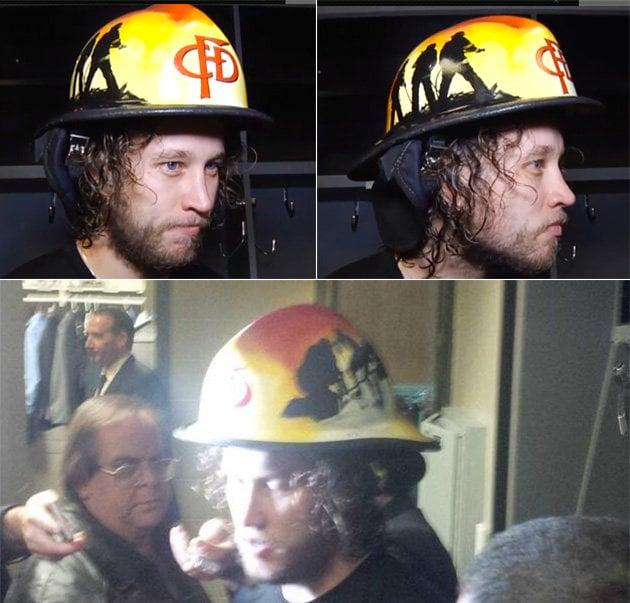 9 calgary flames cfd helmet