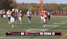 Sacred Heart Wide Receiver Records Fumble, Forced Fumble, Fumble Recovery and Touchdown on the Same Play (Video)