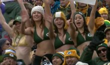 Female Packers Fans Brave Cold in Bikinis (GIF + Video)