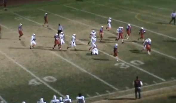 HS screen pass touchdown