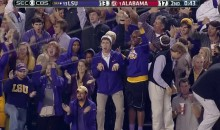 LSU Fan Starts Acting Like a Dinosaur for Some Reason (GIFs)