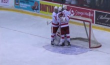 Cornell Freshman Goalie Mitch Gillam Makes NCAA Debut, Scores Goal (Video)
