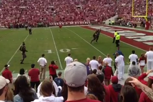 Oklahoma Fan Tackled