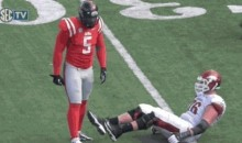 Ole Miss' Robert Nkemdiche Ejected After Shoving Arkansas' Dan Skipper (GIF)