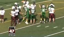 Olivet Eagles Football Team Stage Play for Special Needs Teammate (Video)