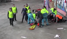 Ajax Fan Critically Injured After Falling 15 Feet to Stadium's Concrete Floor (Photos + Video)