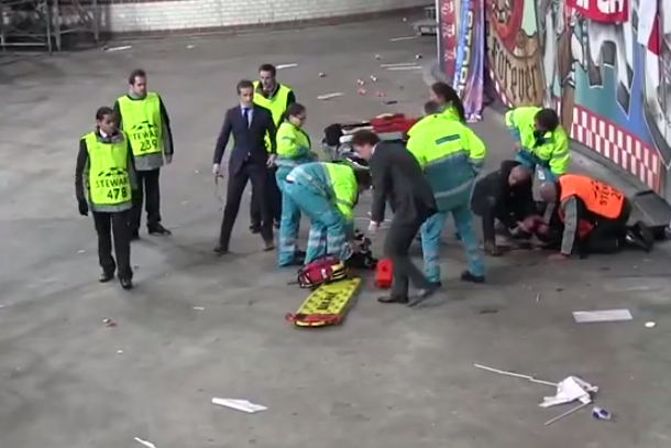 ajax fan falls serious injured gruesome